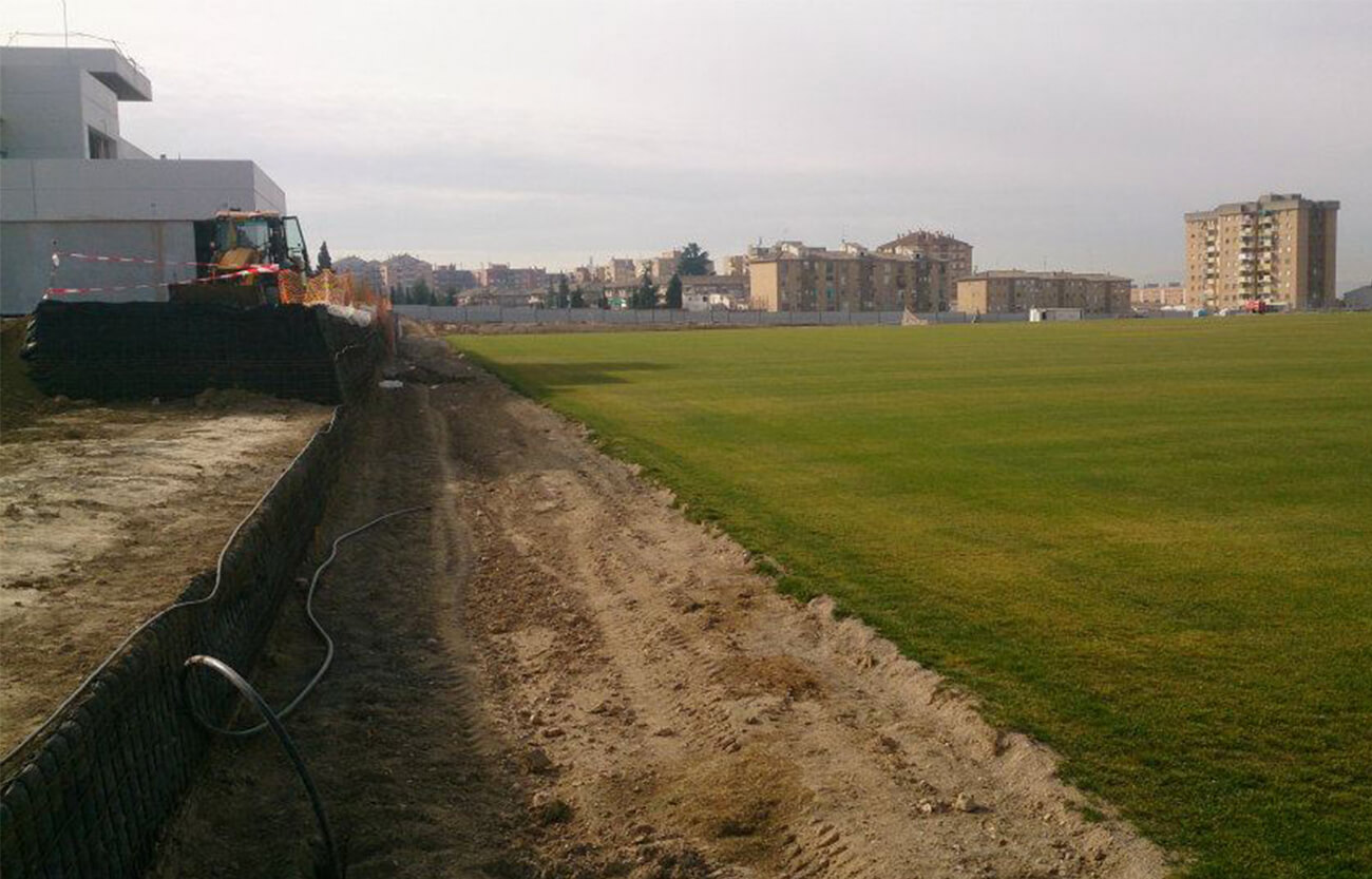 Proyecto de Construcción en Ciudad Deportiva - Servicios de topografía en Granada