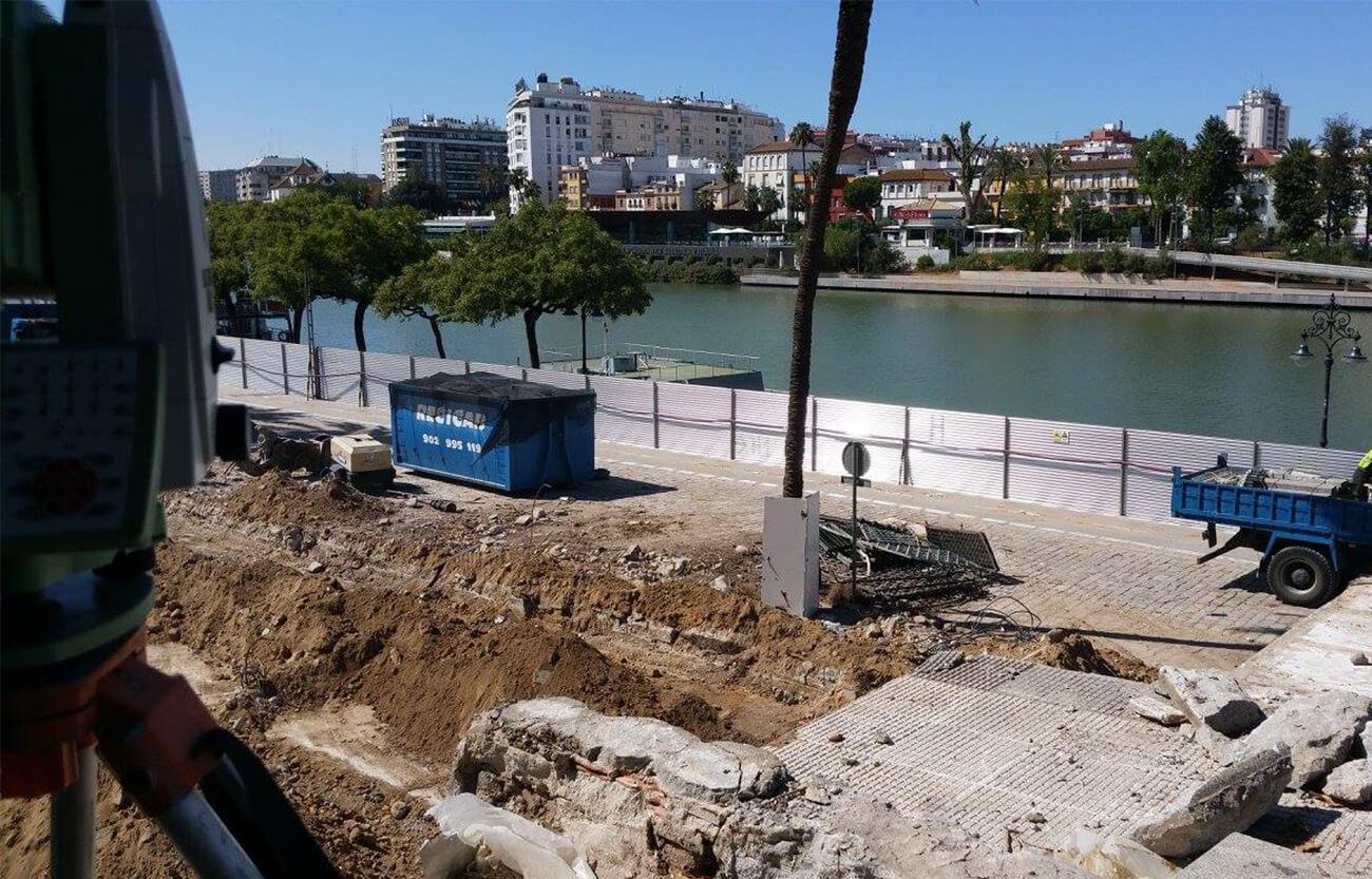 Proyecto en Marqués de Contadero - Servicios topografía Sevilla