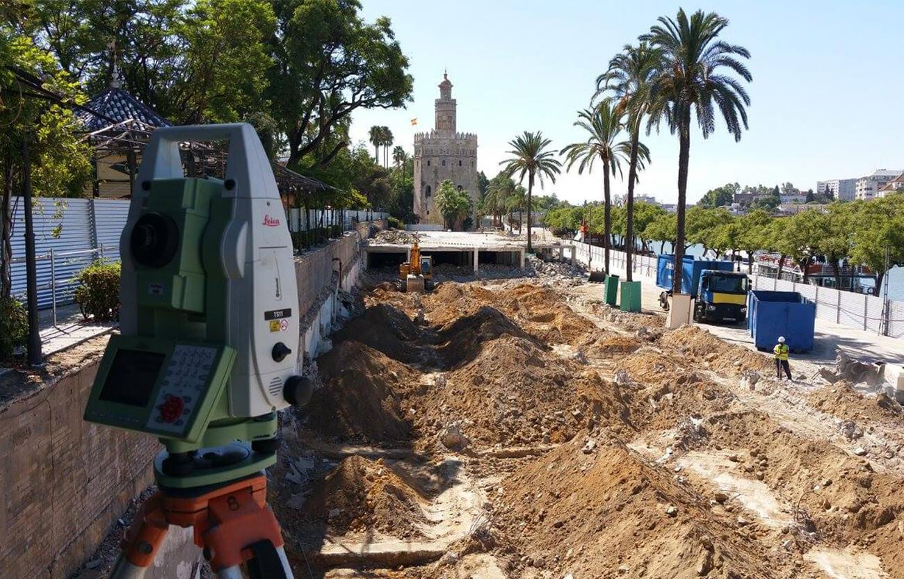 Proyecto de construcción de obra en Marqués de Contadero - Servicio topografía Sevilla
