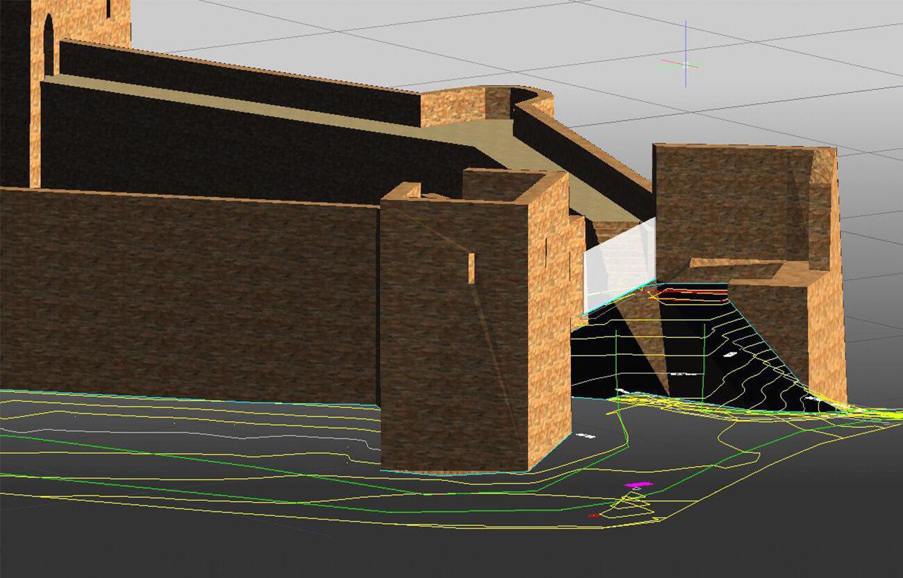 Proyecto Modelado 3D castillo - Topografía con drones
